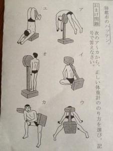 体重計の図り方