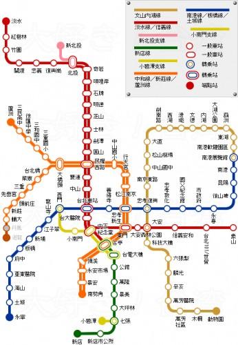 台湾 メトロ図