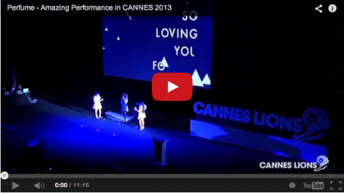 Perfume - Amazing Performance in CANNES 2013