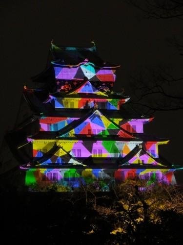 大阪城 3Dマッピングイルミネーション