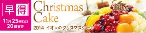 2014 イオン クリスマスケーキ