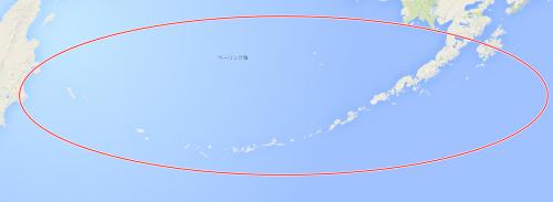 アリューシャン列島 拡大図